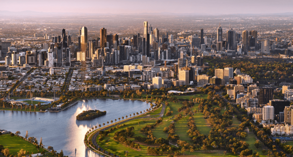 AERIAL view of melbourne, things to see in melbourne, melbourne guide