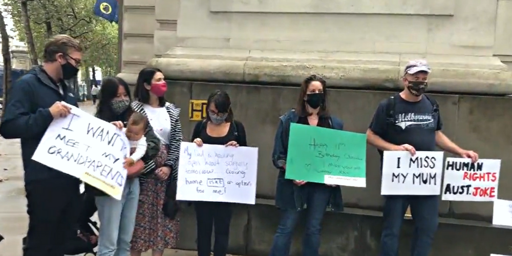 stand in silence outside @AusHouseLondon